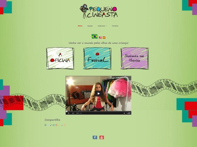 Site do Festival Pequeno Cineasta